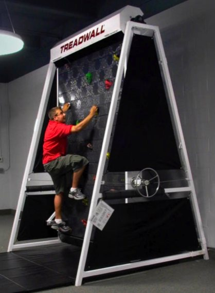 A Cool Workout: Rock Climbing Treadmill